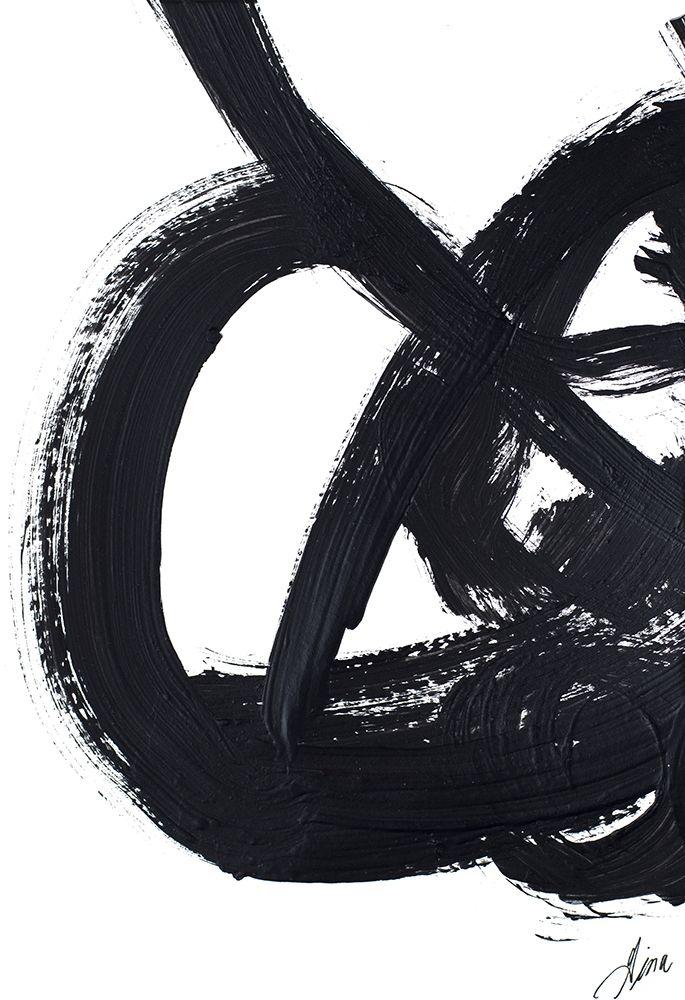 konfigurieren des Kunstdrucks in Wunschgröße Noir Strokes III von Ritter, Gina