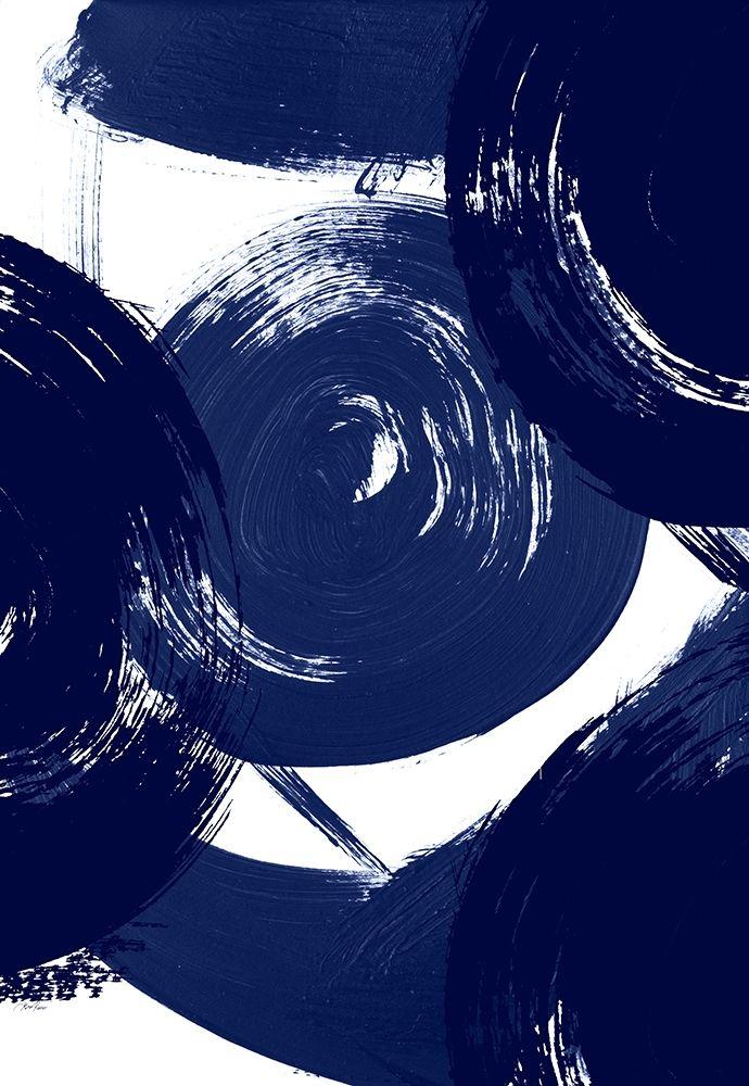 konfigurieren des Kunstdrucks in Wunschgröße Indigo Swirl von Ritter, Gina