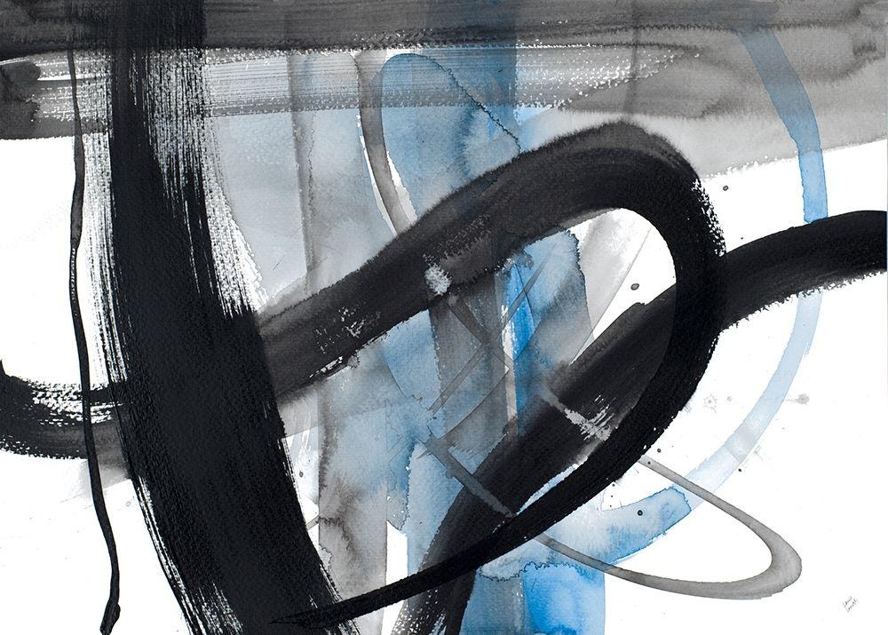 konfigurieren des Kunstdrucks in Wunschgröße Urban Vibe With Blue I von Loreth, Lanie