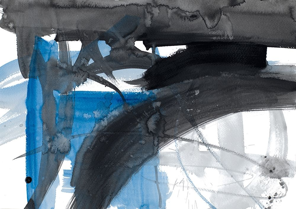 konfigurieren des Kunstdrucks in Wunschgröße Urban Vibe With Blue III von Loreth, Lanie