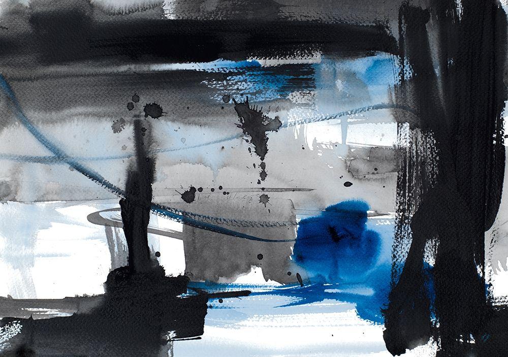 konfigurieren des Kunstdrucks in Wunschgröße Urban Vibe With Blue IV von Loreth, Lanie
