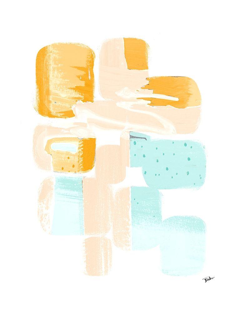 konfigurieren des Kunstdrucks in Wunschgröße Little 70s Dots I von Pinto, Patricia
