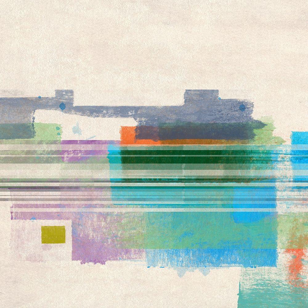 konfigurieren des Kunstdrucks in Wunschgröße Summer Squares I von Meneely, Dan