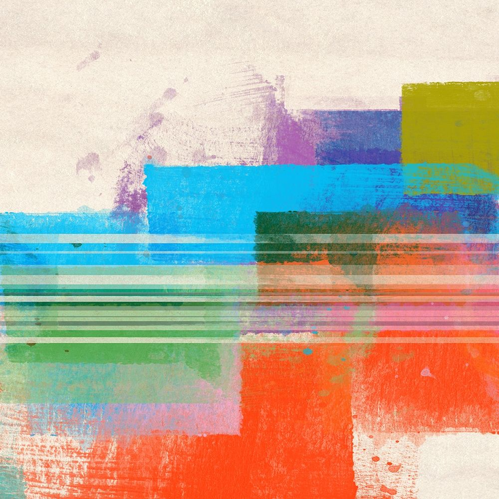 konfigurieren des Kunstdrucks in Wunschgröße Summer Squares II von Meneely, Dan