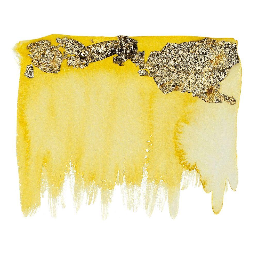 konfigurieren des Kunstdrucks in Wunschgröße Gold Flake Yellow von Danelle, B.