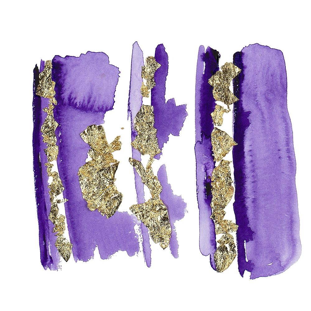 konfigurieren des Kunstdrucks in Wunschgröße Gold Flake Purple von Danelle, B.