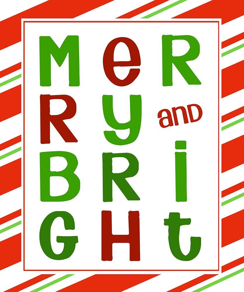 konfigurieren des Kunstdrucks in Wunschgröße Merry and Bright von Quach, Anna