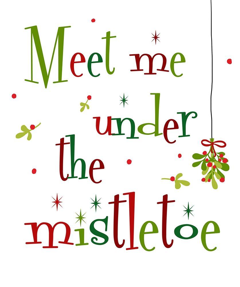 konfigurieren des Kunstdrucks in Wunschgröße Meet Me Under the Mistletoe von Quach, Anna