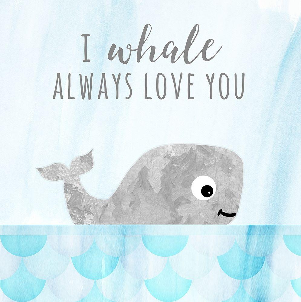 konfigurieren des Kunstdrucks in Wunschgröße Whale Always Love You von Quach, Anna