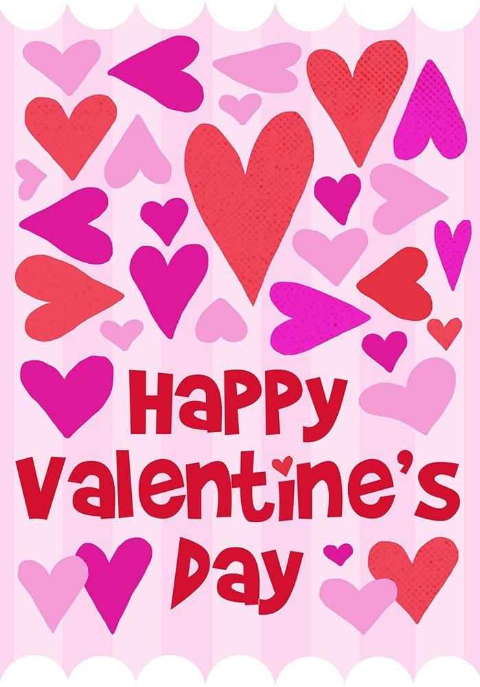 konfigurieren des Kunstdrucks in Wunschgröße Happy Valentine with Hearts von Quach, Anna
