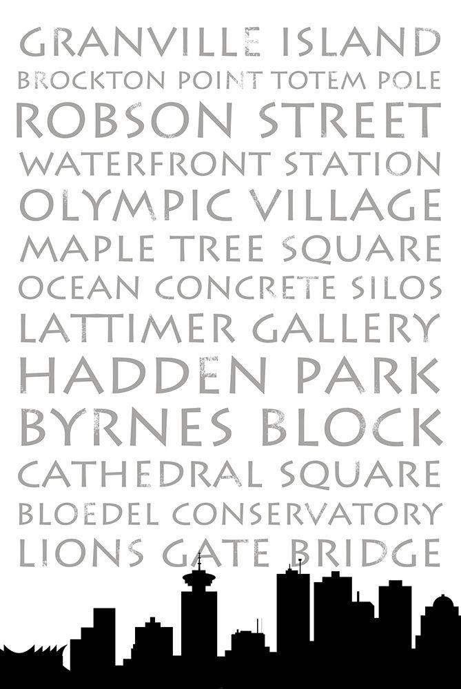 konfigurieren des Kunstdrucks in Wunschgröße Vancouver Skyline von Quach, Anna