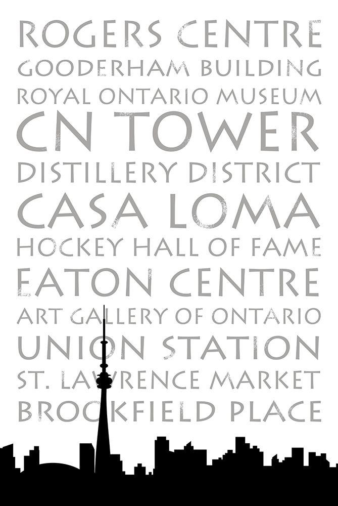 konfigurieren des Kunstdrucks in Wunschgröße Toronto Skyline von Quach, Anna