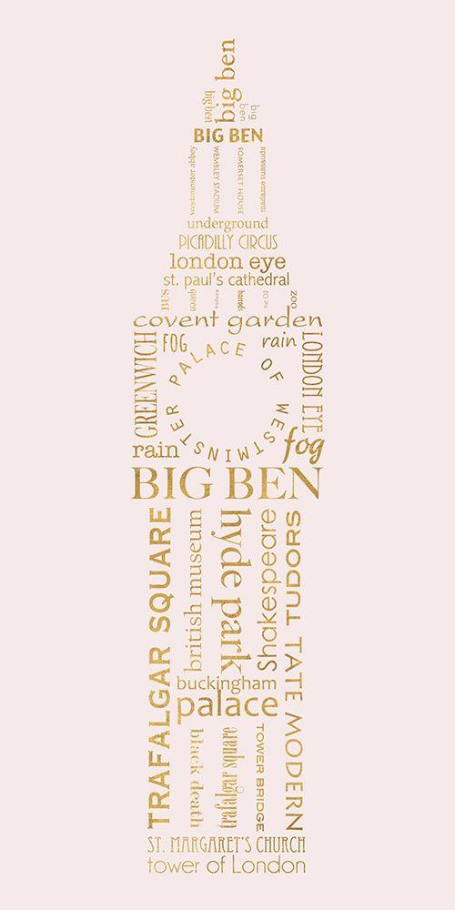 konfigurieren des Kunstdrucks in Wunschgröße London Panel von Quach, Anna