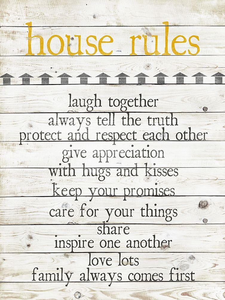 konfigurieren des Kunstdrucks in Wunschgröße House Rules von Quach, Anna
