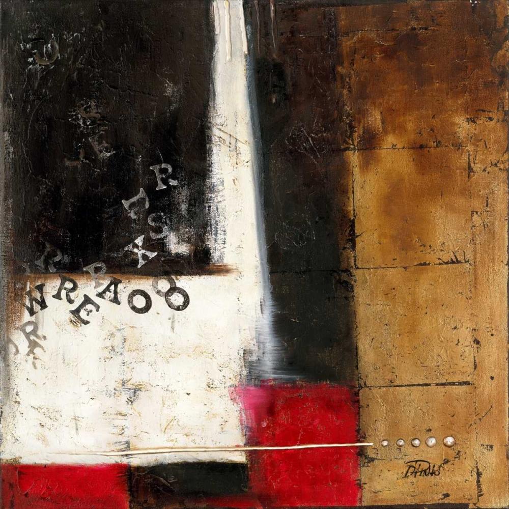 konfigurieren des Kunstdrucks in Wunschgröße Red Contemporary IV von Pinto, Patricia