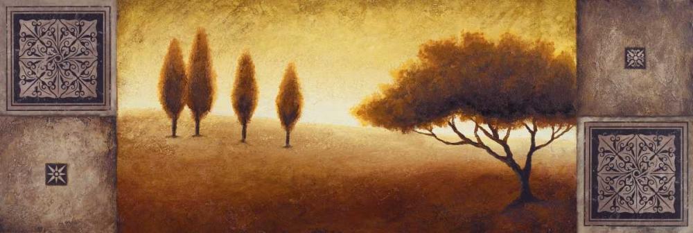 konfigurieren des Kunstdrucks in Wunschgröße Warm Horizon I von Marcon, Michael