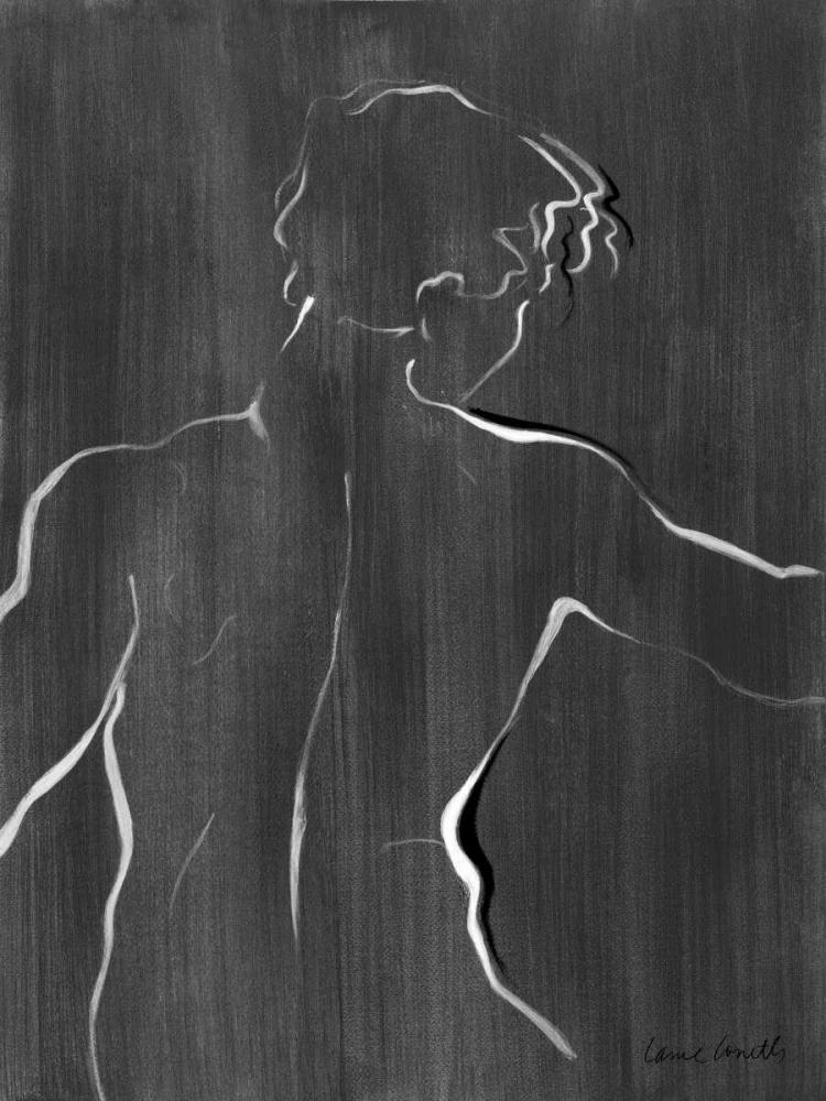konfigurieren des Kunstdrucks in Wunschgröße Sketched in Black I von Loreth, Lanie