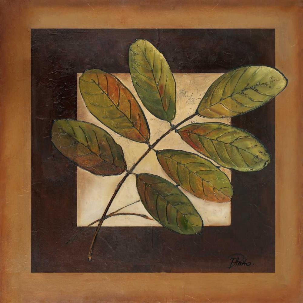 konfigurieren des Kunstdrucks in Wunschgröße Leaves Over Brown II von Pinto, Patricia