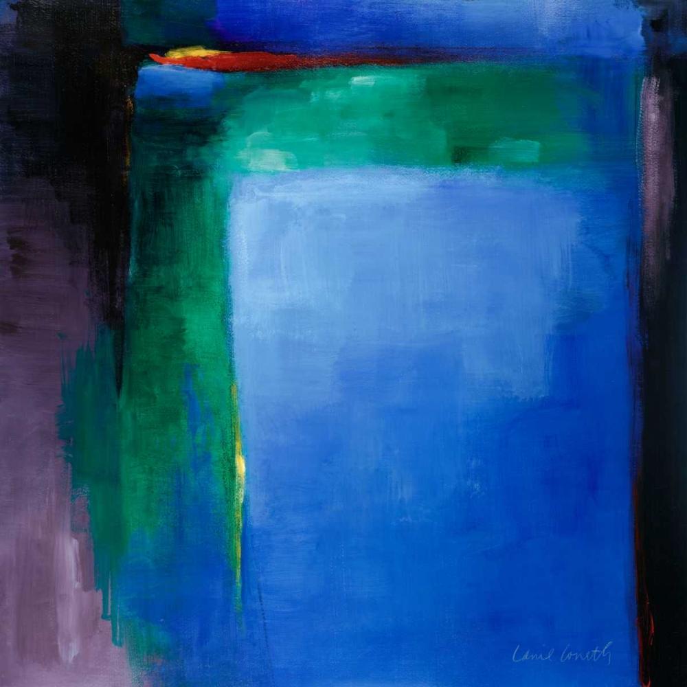 konfigurieren des Kunstdrucks in Wunschgröße Into Blue I von Loreth, Lanie
