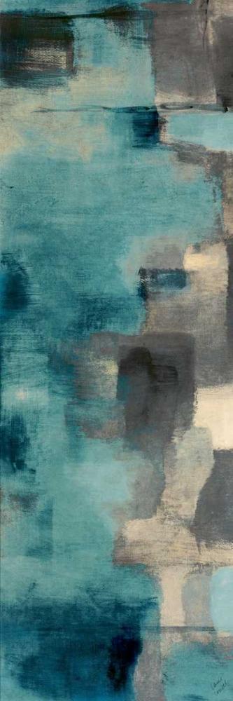 konfigurieren des Kunstdrucks in Wunschgröße Downtown Blue Rain I von Loreth, Lanie