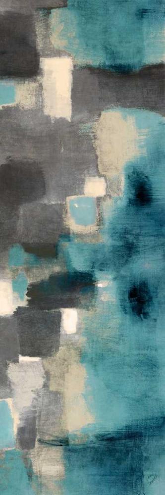 konfigurieren des Kunstdrucks in Wunschgröße Downtown Blue Rain II von Loreth, Lanie