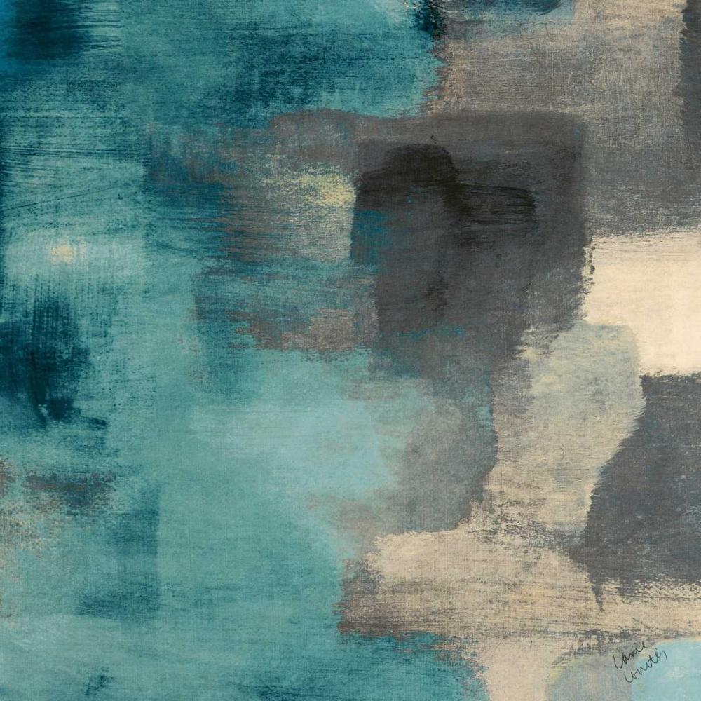 konfigurieren des Kunstdrucks in Wunschgröße Blue Rain Square I von Loreth, Lanie