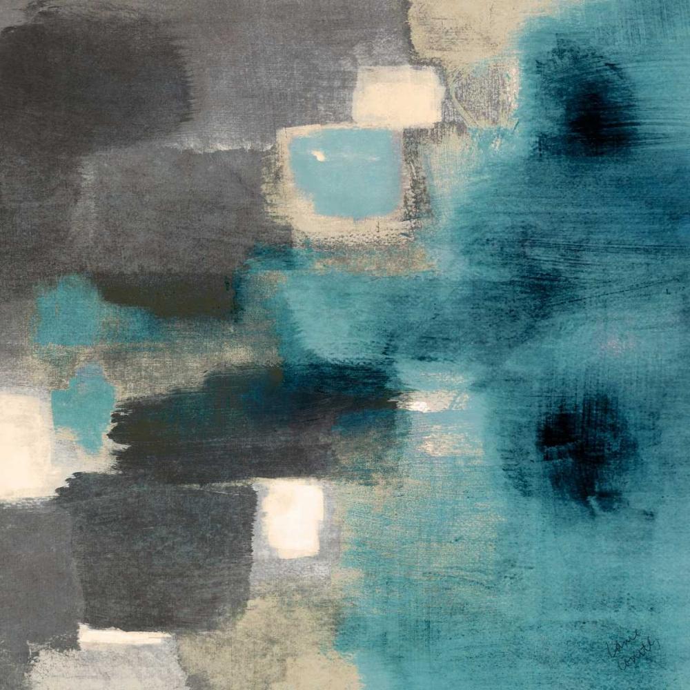 konfigurieren des Kunstdrucks in Wunschgröße Blue Rain Square II von Loreth, Lanie