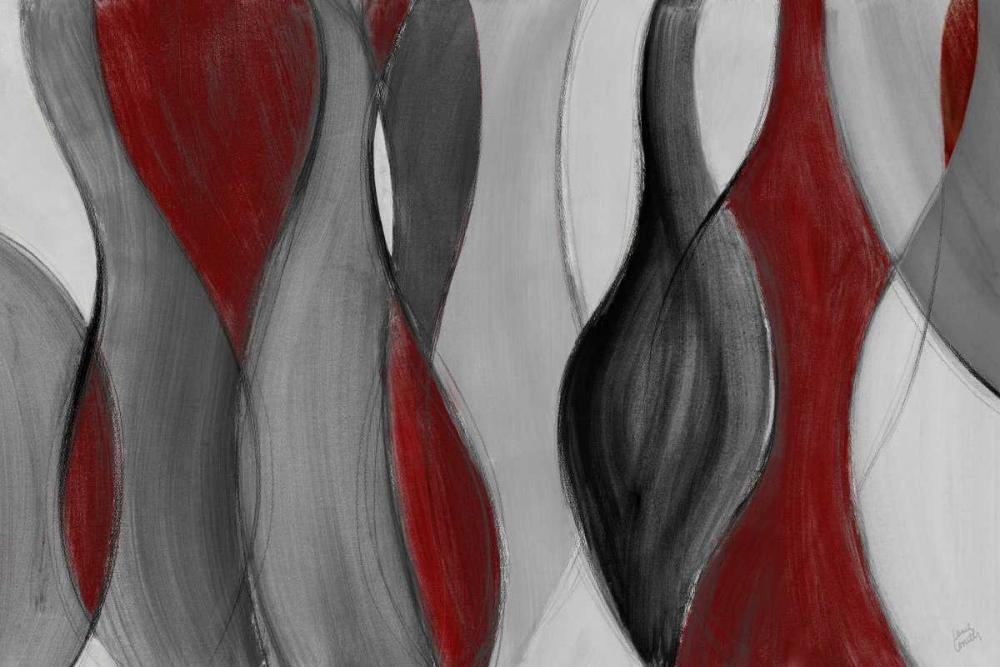 konfigurieren des Kunstdrucks in Wunschgröße Coalescence - red gray black von Loreth, Lanie