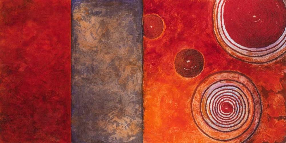 konfigurieren des Kunstdrucks in Wunschgröße Red Spirals I von Loreth, Lanie