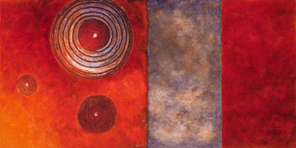 konfigurieren des Kunstdrucks in Wunschgröße Red Spirals II von Loreth, Lanie