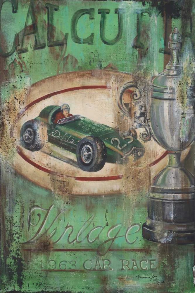 konfigurieren des Kunstdrucks in Wunschgröße Vintage Calcutta I von Hakimipour-Ritter