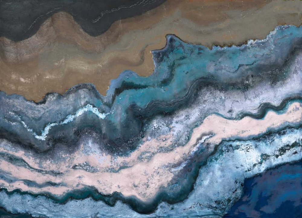 konfigurieren des Kunstdrucks in Wunschgröße Blue Tierra von Pinto, Patricia