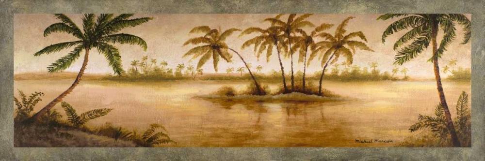 konfigurieren des Kunstdrucks in Wunschgröße Golden Tropics I von Marcon, Michael