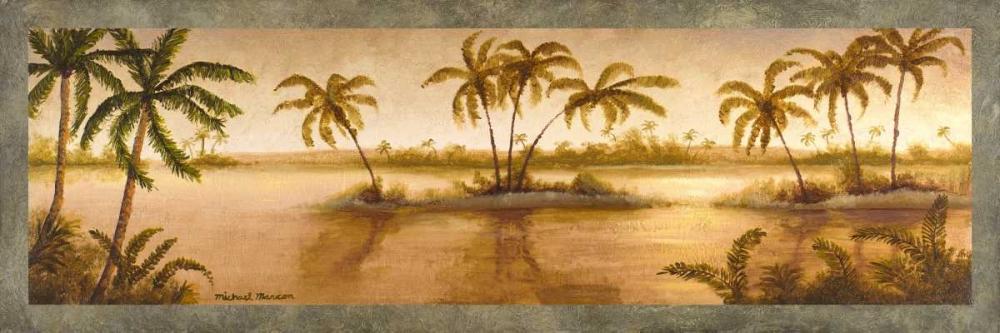 konfigurieren des Kunstdrucks in Wunschgröße Golden Tropics II von Marcon, Michael