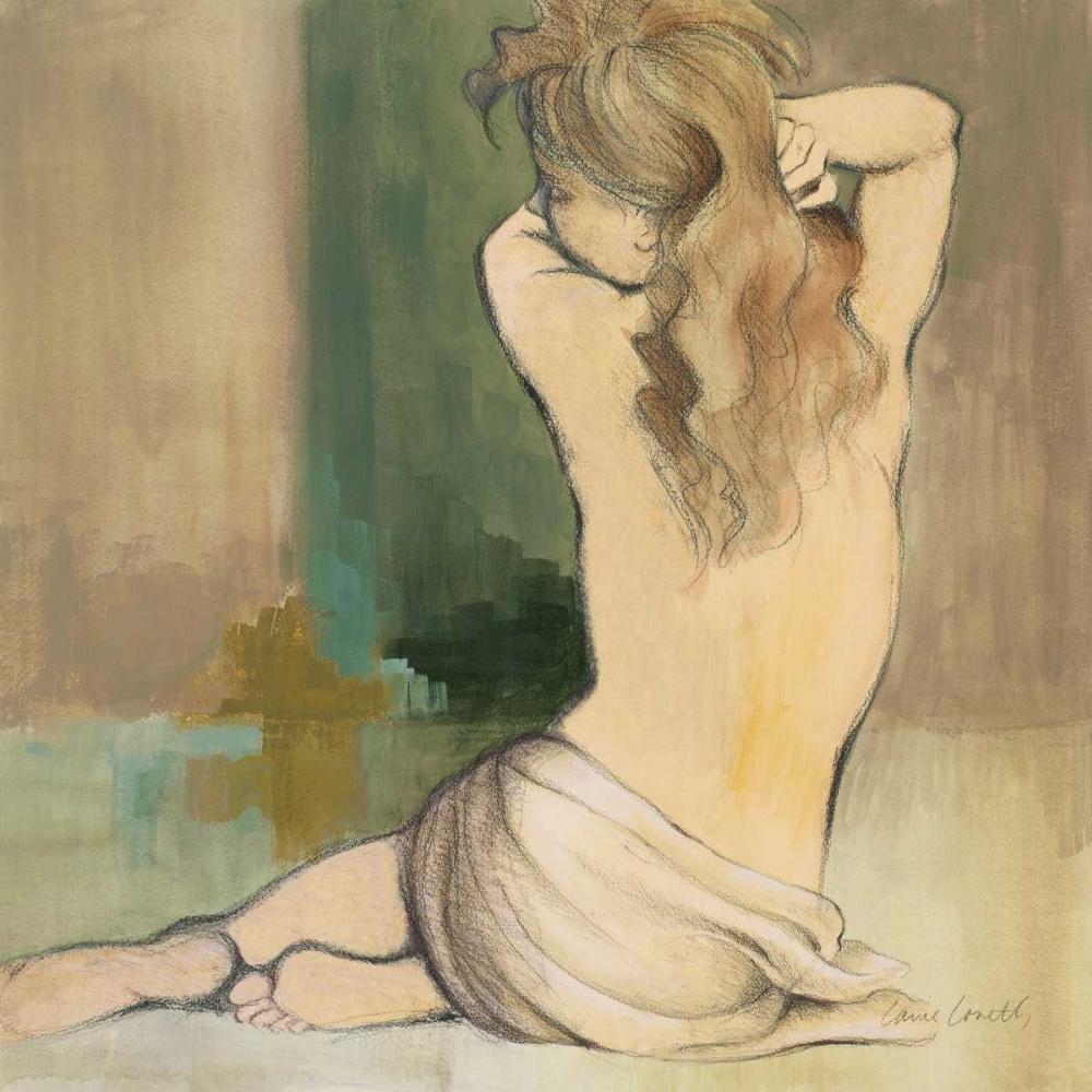 konfigurieren des Kunstdrucks in Wunschgröße Waking Woman I - green von Loreth, Lanie