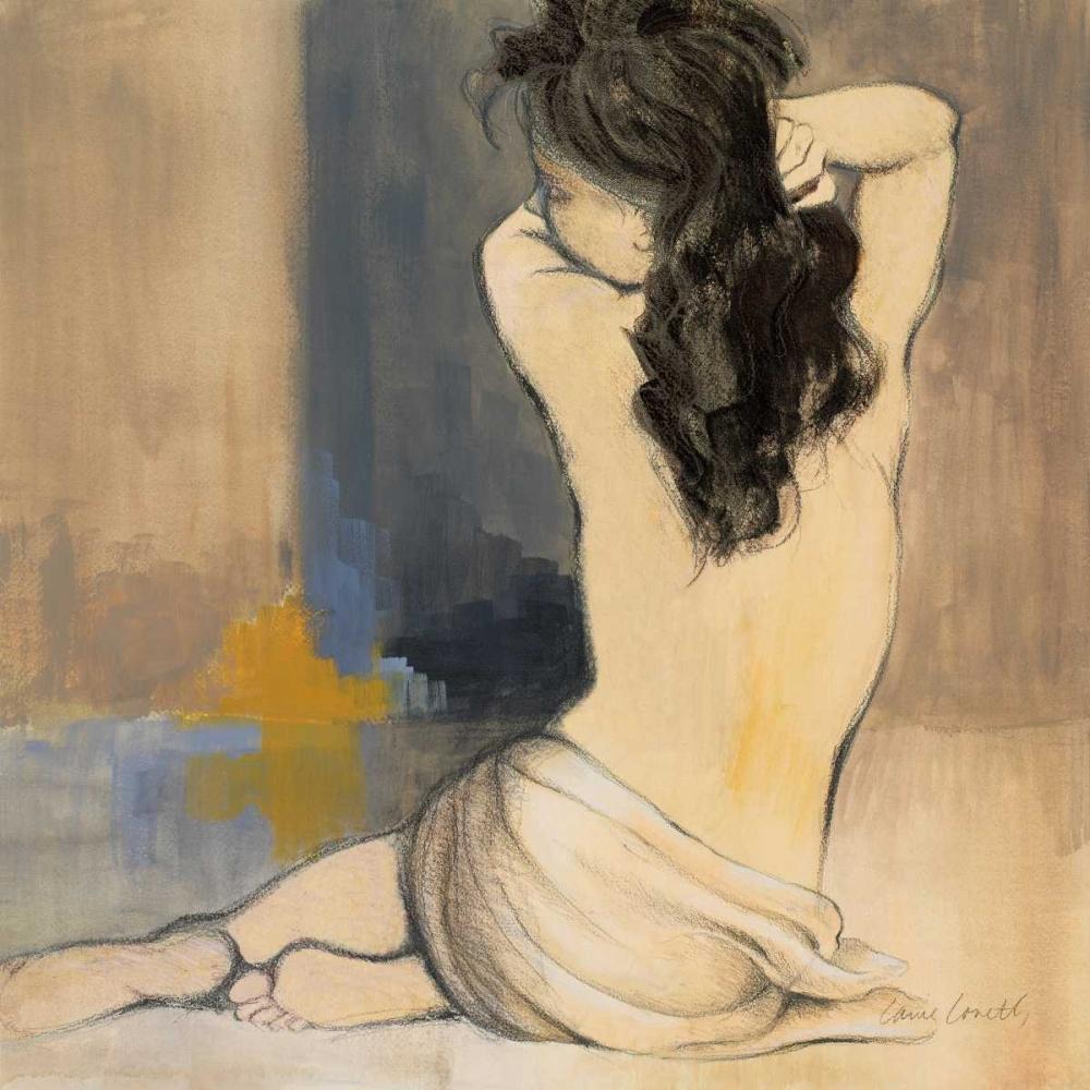 konfigurieren des Kunstdrucks in Wunschgröße Waking Woman I - blue von Loreth, Lanie