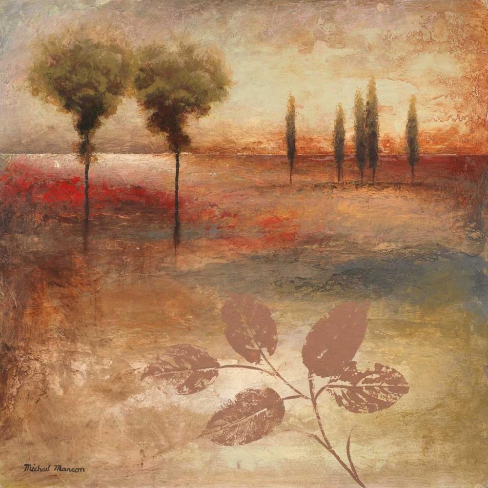 konfigurieren des Kunstdrucks in Wunschgröße Warm Textural Landscape I von Marcon, Michael