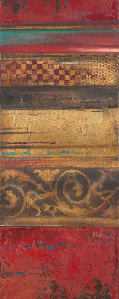 konfigurieren des Kunstdrucks in Wunschgröße Red Eclectic III von Pinto, Patricia