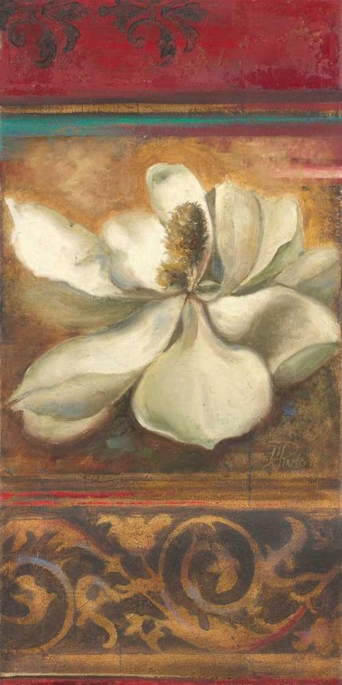 konfigurieren des Kunstdrucks in Wunschgröße Red Eclecticism with Magnolia von Pinto, Patricia