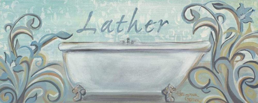 konfigurieren des Kunstdrucks in Wunschgröße Blue Bath II von Hakimipour-Ritter