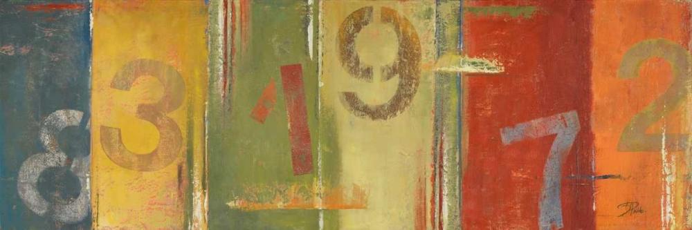 konfigurieren des Kunstdrucks in Wunschgröße Lucky Numbers II von Pinto, Patricia