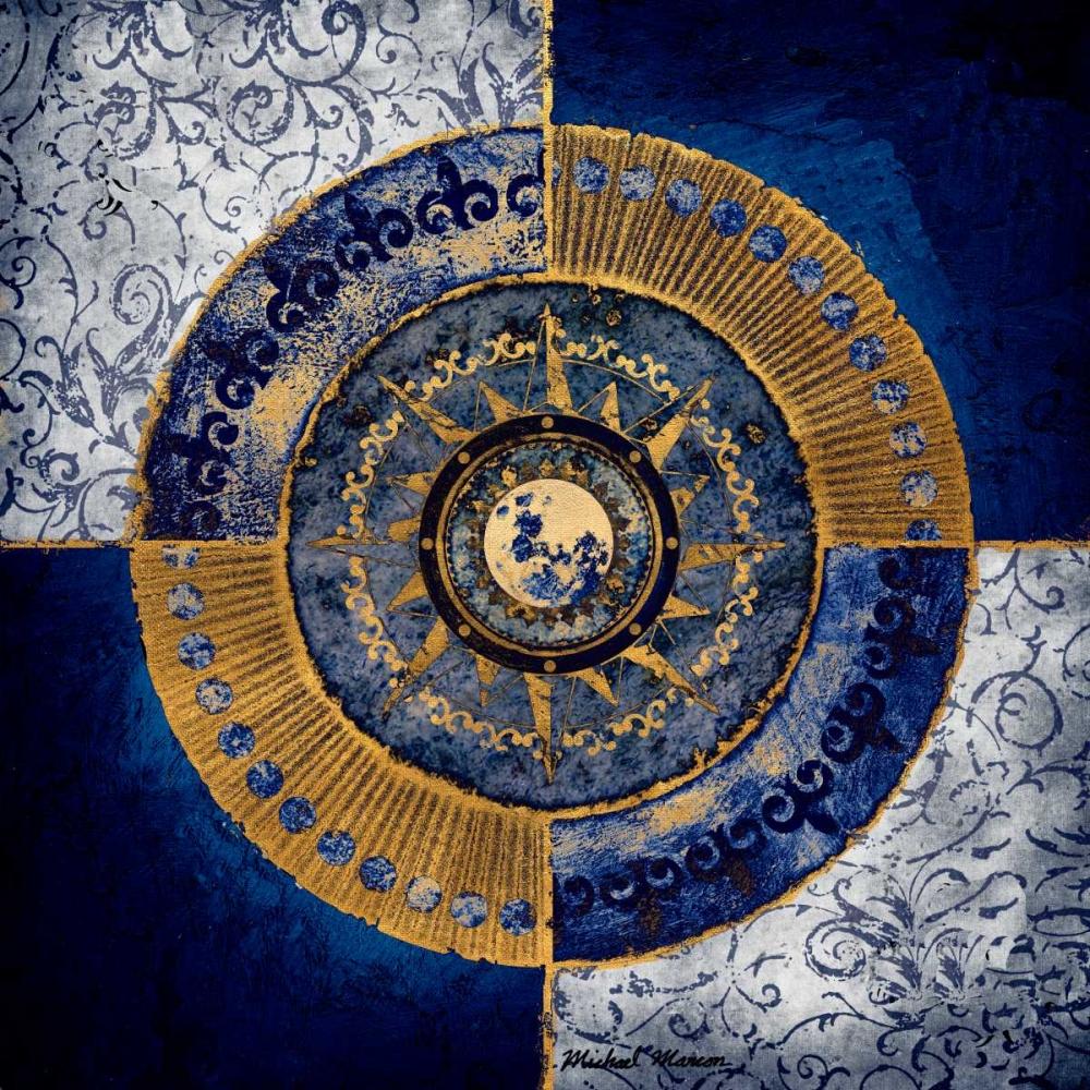 konfigurieren des Kunstdrucks in Wunschgröße Gold and Sapphire Moon Dial II von Marcon, Michael
