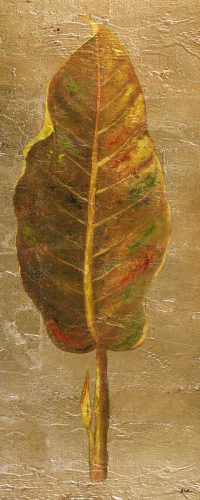 konfigurieren des Kunstdrucks in Wunschgröße Arte Verde on Gold I von Pinto, Patricia