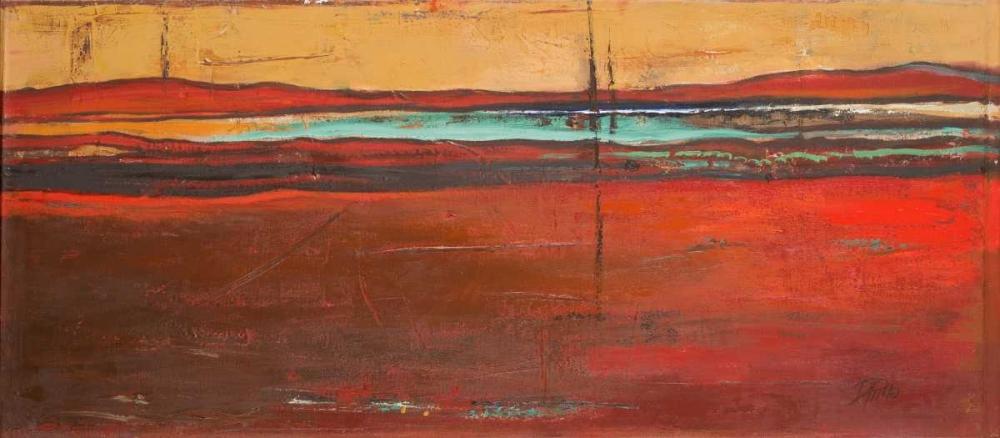 konfigurieren des Kunstdrucks in Wunschgröße Red Horizon I von Pinto, Patricia