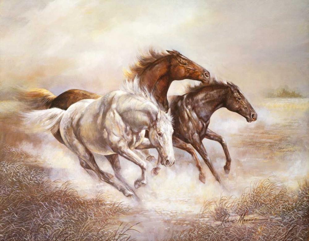 konfigurieren des Kunstdrucks in Wunschgröße Wild Horses I von Manning, Ruane