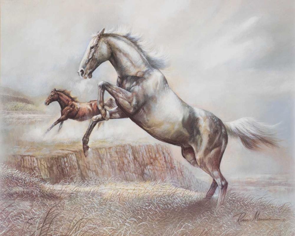 konfigurieren des Kunstdrucks in Wunschgröße Wild Horses II von Manning, Ruane
