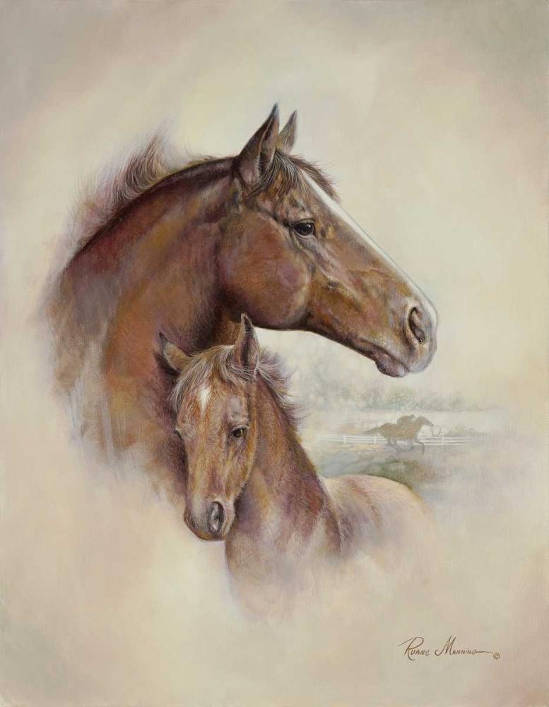 konfigurieren des Kunstdrucks in Wunschgröße Race Horse II von Manning, Ruane