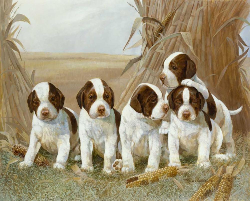 konfigurieren des Kunstdrucks in Wunschgröße Belles Pups von Manning, Ruane