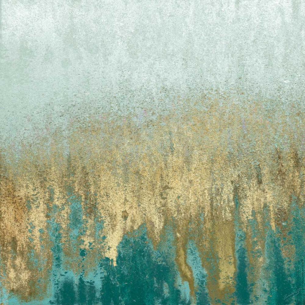 konfigurieren des Kunstdrucks in Wunschgröße Teal Woods In Gold II von Gonzalez, Roberto