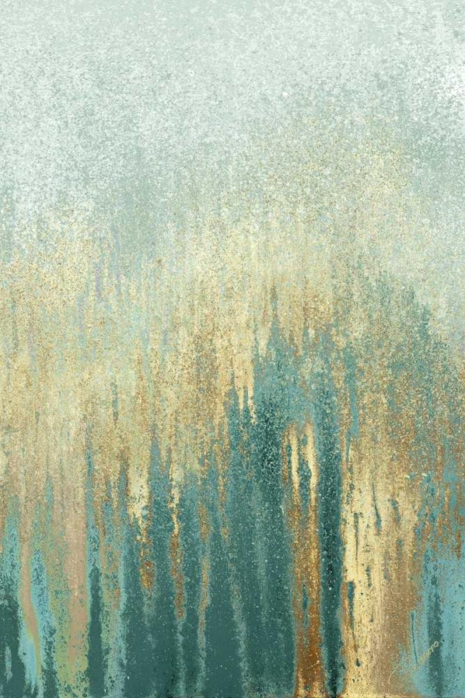 konfigurieren des Kunstdrucks in Wunschgröße Teal Golden Woods von Gonzalez, Roberto